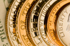 Perfect uncirculated american currency Stock Photos