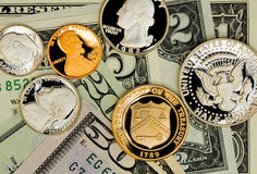 Perfect uncirculated american currency Stock Image