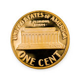 Perfect uncirculated one cent coin Stock Photos
