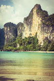 Perfect vacation with blue sky at Railay beach in Krabi Thailand Royalty Free Stock Images