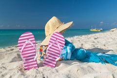 Perfect vacations accessories Stock Images