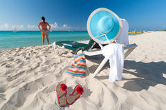 Perfect vacations scenery. At Caribbean Sea Royalty Free Stock Photography