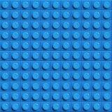 Perfect vector lego background of closeup plastic gloss construction lego block. Blue. Perfect vector background of closeup plastic gloss construction block Stock Image