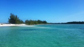 Perfect view of an isolated beach in Cayo Largo Cuba Stock Photo