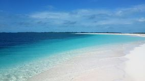 Perfect view of an isolated beach in Cayo Largo Cuba Stock Image