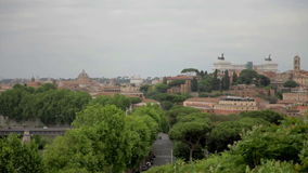 Perfect view on Rome, Italy. Shot of beautiful and city full of ancient sights Rome in Italy on windy and cloudy day stock video