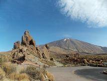 Perfect view, Teide, Tenerife. Mount Teide is a volcano on Tenerife in the Canary Islands, Spain. It is the highest point in Spain and real must-visit place royalty free stock photos
