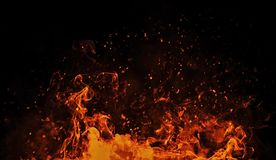 Perfect vintage texture with fire particles sparkle embers on background. Texture for banner,flyer and card. royalty free stock photo