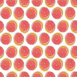 Sicilian orange background. Colorful vector seamless pattern with summer fruits royalty free illustration