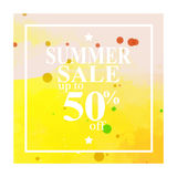 Perfect watercolor design for sale shop and sale banners. Stock Images