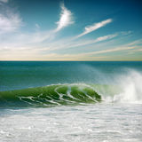 Perfect Wave. Beautiful seascape with a single perfect wave Stock Photos