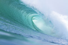 Perfect wave. Perfect blue wave indian ocean Royalty Free Stock Photography