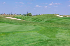 Perfect wavy green ground on a golf course Royalty Free Stock Photography