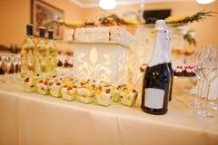 Perfect wedding reception Stock Photos