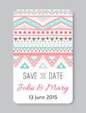 Perfect wedding template with doodles tribal theme Royalty Free Stock Photo
