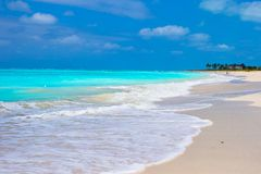 Perfect white beach with turquoise water on Stock Images