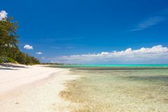 Perfect white beach with turquoise water at ideal Stock Photography