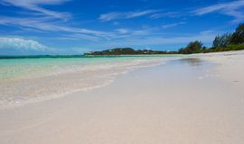Perfect white beach with turquoise water at ideal Royalty Free Stock Photography