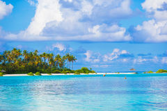 Perfect white beach with turquoise water at ideal Royalty Free Stock Photo