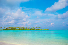 Perfect white beach with turquoise water at ideal Stock Photos