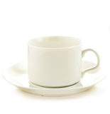 Perfect white coffee cup Stock Photos