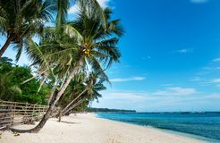 Perfect white sand beach on Boracay island Stock Photography