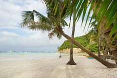 Perfect white sand beach on Boracay, Philippines Royalty Free Stock Photo