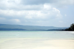 Perfect white sand and crystal water beach, koh rong, cambodia Stock Images