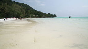 Perfect white sand and crystal water beach,koh rong,cambodia stock video