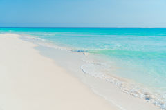 Perfect white sandy beach with turquoise water Royalty Free Stock Images
