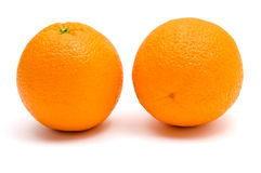 Perfect whole oranges Royalty Free Stock Photos