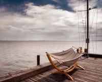Perfect widok Austria jezioro Neusiedl zdjęcia royalty free