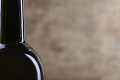Perfect wine bottle silhouette on wood background Stock Image