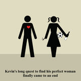 Perfect woman. Man finally finds his perfect woman Stock Illustration