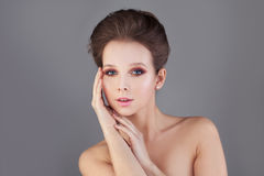 Perfect Woman. Healthy Skin and Hair. Spa. Concept Stock Photography