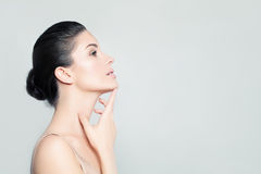 Perfect Woman Spa Model with Healthy Skin Royalty Free Stock Photo