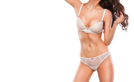Perfect women body. Cropped image of beautiful young fit woman Royalty Free Stock Images