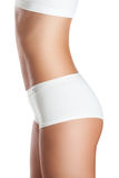 Perfect women body in white underwear Royalty Free Stock Image