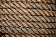 Perfect yellow rough rope texture Stock Images