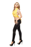 Perfect young woman in black leggings Royalty Free Stock Image
