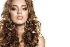 Perfect Young Woman Face Closeup. Female Face Stock Photography