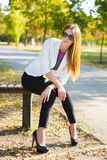Perfect young woman royalty free stock photos