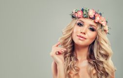 Free Perfect Young Woman With Flowers Hairstyle. Royalty Free Stock Photos - 108364008