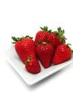 Perfecte Aardbeien Stock Fotografie