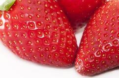 Perfecte Aardbeien Royalty-vrije Stock Afbeeldingen