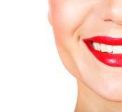 Perfecte glimlach Stock Foto