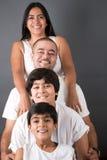 Perfecte Indische Familie Royalty-vrije Stock Afbeeldingen