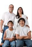 Perfecte Indische Familie Stock Fotografie