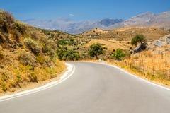 Perfecte landschapsweg Stock Foto's