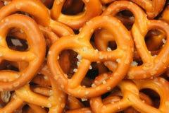 Perfecte pretzelclose-up Stock Foto's